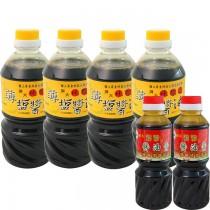 得福【屏大】非基改6瓶超值組合 (薄鹽醬油X4+醬油膏X2)