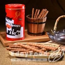 得福【黑師傅】巧克力/牛奶/草莓/花生捲心酥 任選 3罐 (400g/罐)