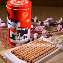 得福【黑師傅】巧克力/牛奶/草莓/花生捲心酥 任選 12罐 (400g/罐)